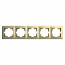 Рамка пятерная Gunsan Visage золото