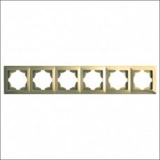 Рамка шестерная Gunsan Visage золото