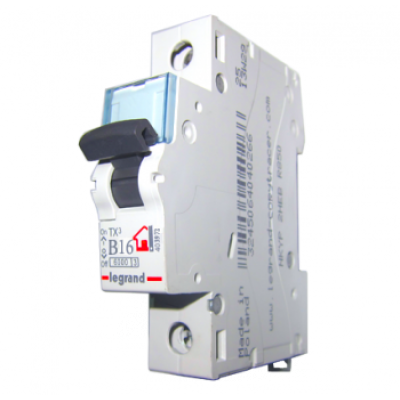 Автоматический выключатель однополюсный Legrand TX3 16A 1Р 6кА тип «B»