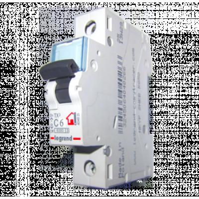 Автоматический выключатель однополюсный Legrand TX3 6A 1Р 6кА тип «C»