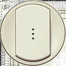 Лицевая панель 1-клавишного выключателя с подсветкой Legrand Celiane 66210 слоновая кость