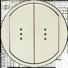 Лицевая панель выключателя 2-клавишного с подсветкой Legrand Celiane 66211 слоновая кость