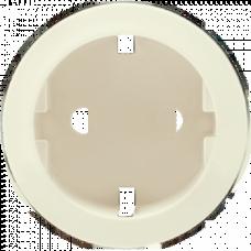 Накладка розетки c заземлением (на защелках) Legrand Celiane 66227 слоновая кость