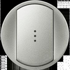 Лицевая панель 1-клавишного выключателя с подсветкой Legrand Celiane 68303 титан