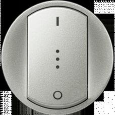 Лицевая панель 2-полюсного выключателя с подсветкой Legrand Celiane 68323 титан