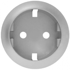 Накладка розетки c заземлением (на защелках) Legrand Celiane 68431 титан