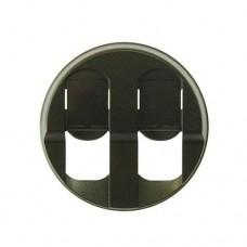 Лицевая панель двойной розетки RJ-45 64936 графит