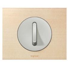 Лицевая панель (клавиша) выключателя бесшумного с индикатором 68313 титан