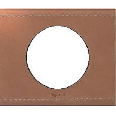 Рамка одинарная Legrand Celiane 69281 кожа крем-карамель