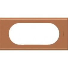 Рамка на 4-5 модулей Legrand Celiane 69285 кожа крем-карамель