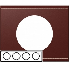 Рамка четверная Legrand Celiane 69294 кожа классик