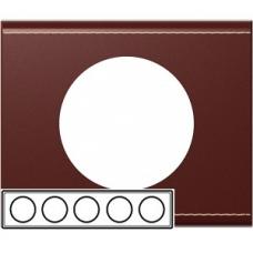 Рамка на 5 постов Legrand Celiane 69300 кожа классик
