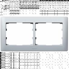 Рамка 2-я Galea Life 771302 алюминий