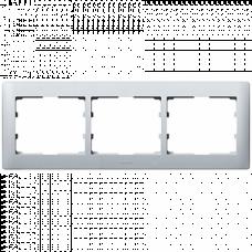 Рамка 3-я Galea Life 771303 алюминий
