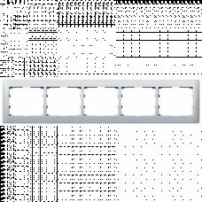 Рамка 5-я Galea Life 771305 алюминий