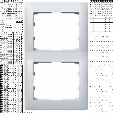 Рамка 2-я вертикальная Galea Life 771306 алюминий