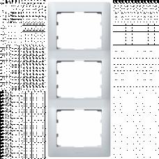 Рамка 3-я вертикальная Galea Life 771307 алюминий