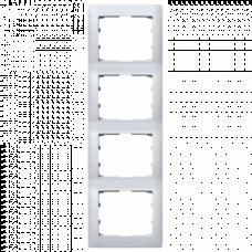 Рамка 4-я вертикальная Galea Life 771308 алюминий