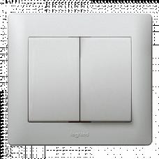 Клавиша для 2-клавишного выключателя 771312 алюминий