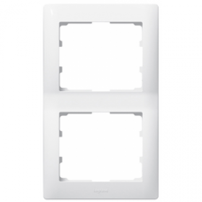 Рамка 2-я вертикальная Galea Life белая 771006