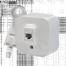 Розетка компьютерная PC-1 RJ45 кат.5е UTP Legrand Quteo 782224, накладной, цвет белый