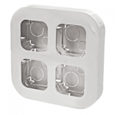 Бокс монтажный на 4 устройства IP20 Legrand Quteo 782294, накладной, цвет белый