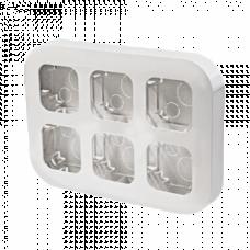 Бокс монтажный на 6 устройства IP20 Legrand Quteo 782296, накладной, цвет белый