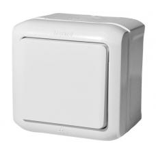 Выключатель 1-клавишный IP44 10A 782300 белый