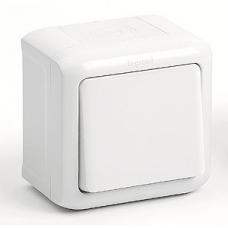 Переключатель 1-клавишный IP44 10A 782304 белый
