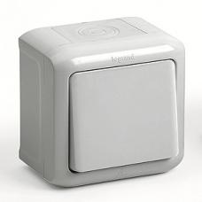 Выключатель 1-клавишный IP44 10A 782330 серый