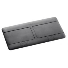 Выдвижной розеточный блок в стол или пол восьмимодульный 54028 черный