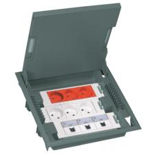 Коробка напольная серая 12 модулей, крышка из стали с антикоррозионным покрытием Legrand 89605