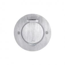 Розеточный модуль в пол на 2 модуля, Legrand 89701 круглый, нержавеющая сталь IP44
