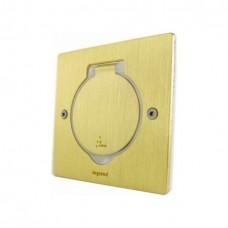 Розеточный модуль в пол на 2 модуля, Legrand 89710 квадратный, бронза IP44