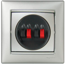 Розетка 2-я для акустических систем Valena 770124 алюминий