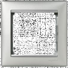 Рамка 1-пост Valena 770151 алюминий
