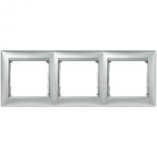 Рамка 3-пост Valena 770153 алюминий