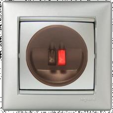 Розетка акустическая 1-я Legrand Valena 770223 алюминий