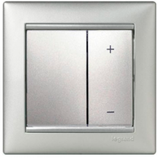 Диммер нажимной универсальний сенс.40-400VA Valena 770262 алюминий