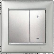 Светорегулятор кнопочный 40-600VA Valena 770274 алюминий