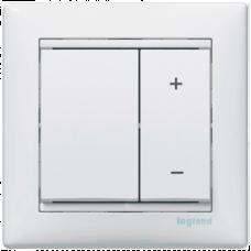 Светорегулятор кнопочный 40-600VA Valena 770074 белый
