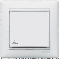 Переключатель 1-кл. проходной IP-44 Valena 774206 белый