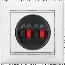 Розетка 2-я для акустических систем Valena 774424 белая