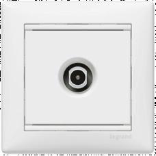 Розетка TV простая 1,5дБ 2400мГц Valena 774429 белая
