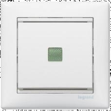 """Выключатель 1-кл промежуточный """"крест"""" с подсветкой Valena 774448 белый"""