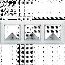 Рамка 3-пост Valena 774453 белая