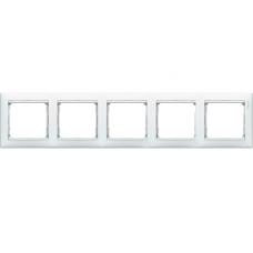 Рамка 5-пост Valena 774455 белая