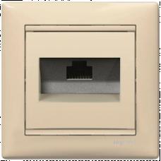 Розетка компьютерная RJ45 UTP кат.6e Valena 774146 слоновая кость