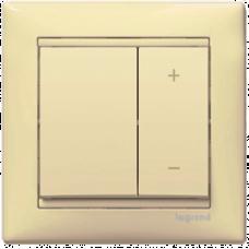 Светорегулятор кнопочный 40-600VA Valena 774174 слоновая кость