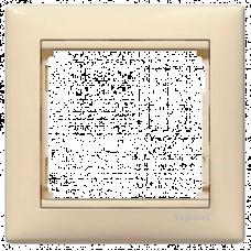 Рамка 1-пост Valena 774351 слоновая кость
